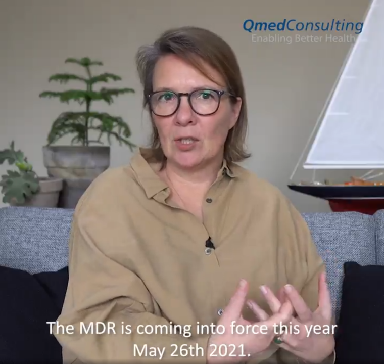 Image of Helene Quie of Qmed Consulting discussing MDR conversion strategy